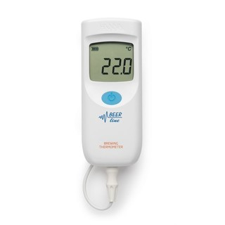 Draagbare thermistor thermometer  inclusief 1 mtr.sonde voor bier